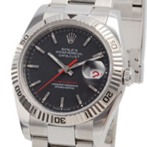 Replica Datejust Turn- O - Graph Black Dial Watch 116264BKSO